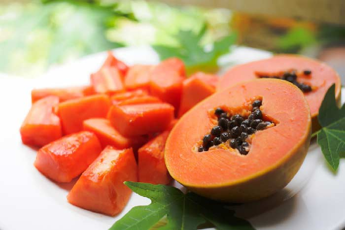 ripe papaya salad