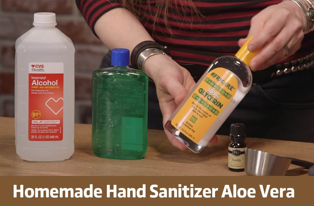 homemade hand sanitizer aloe vera