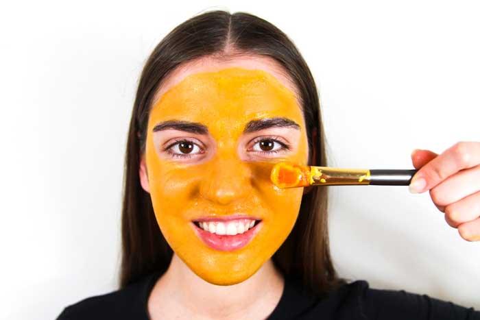 Turmeric, Honey, and Yogurt Face Mask